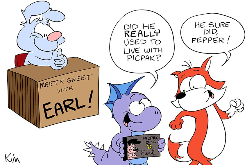 HE USED TO BE FAMOUS!!!  A BUBBLE FOX GUEST COMIC BY KIM BELDING!!!